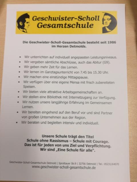 Eine Information zu unserem Schulprogramm